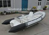 Liya 5.2のメートル販売のための深いVのガラス繊維の外皮のセリウムの肋骨のボート