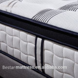 Colchón europeo del dormitorio del resorte del estilo de la tela de 2016 comodidades