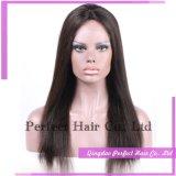 Parrucca piena superiore di seta del merletto dei capelli umani del migliore venditore 100%