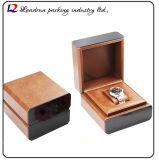 Caixa de armazenamento de couro luxuosa do indicador da embalagem do relógio (Sy013)