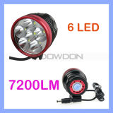 7200lm Cycling CREE Xml-T6 6LED Front Bike Headlamp Bicycle Headlight