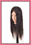 Головка 22inches тренировки человеческих волос манекена головная естественная для типа