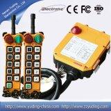 Controllo senza fili industriale personalizzato della gru della gru di telecomando F24-10s di Telecrane di singola velocità