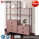 Mobilia Acciaio-Di legno di memoria dell'angolo del salone o di ufficio di alta qualità 2017