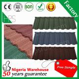 Tuile de toit enduite en métal de construction de pierre supérieure de matériaux dans Guangzhoou
