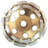 Двойной диамант рядка меля истирательное колесо чашки для бетона