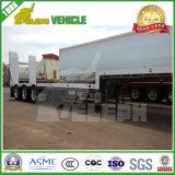 50 Tonnen Lowbed halb LKW-niedrige Jungen-Schlussteil-mit Rampe