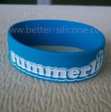 Bracelete enchido cor do silicone de Debossed