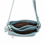 Mint Fresh Style Metal Detail Frente Mulheres Crossbody Bags (MBNO040010)