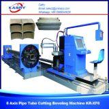 Taglio rotondo & quadrato del plasma di CNC del tubo e macchina di smussatura con la certificazione Kr-Xf8 dello SGS del Ce