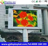 Afficheur LED polychrome du marché P8 imperméable à l'eau pour la publicité