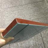 Panel de aluminio de aluminio de nido de abeja de madera para fachada de pared
