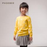 Filles de tricots en gros de coton de Phoebee petites vêtant pour le printemps/automne