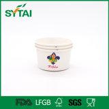 Тип чашки и контейнеры мороженного пользы мороженного изготовленный на заказ напечатанные логосом бумажные