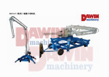 13m 15m 17m Concrete Placement Boom mit 4 Wheels Trailer