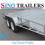 Remorque à couvercle plat personnalisée australienne de transporteur de véhicule de cadre