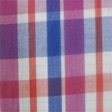 Raya del poliester del T/C/del hilo de algodón/tela teñidas de la camisa de la verificación