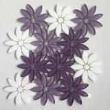 Forma alta flor de la calidad del vidrio y mármol mezclado mosaico