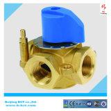 Válvula de seguridad automática forjada de la válvula de descarga del color de cobre amarillo natural de la carrocería que ejerce presión sobre