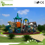 Großes Kind-Plastikschloss-im Freienspielplatz