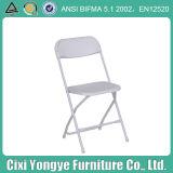Miete für Hochzeitsfest Public White Steel Plastic Folding Chair