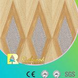 Étage résistant V-Grooved de Laminbated de l'eau de texture de fibre de bois du film publicitaire 12.3mm