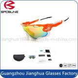 Lente UV polarizada Rx de ciclagem Unbreakable dos óculos de sol da motocicleta da prescrição dos óculos de proteção da novidade Exchangeable anti
