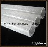 Tubulação opaca geada da câmara de ar de vidro de quartzo do silicone