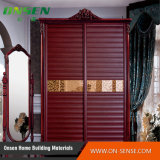 Puerta deslizante del diseño de la alta calidad del PVC del obturador del guardarropa clásico de la serie para el dormitorio