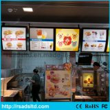 Caixa leve da placa do menu do diodo emissor de luz do restaurante do fast food
