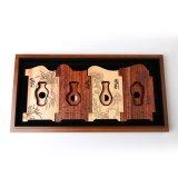 Коробка золота и древесины серебряных монет твердой упаковывая