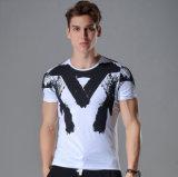 T-shirt de chemise de circuit de collet d'équipage de T-shirt de collet d'O