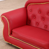 Canapé en cuir rouge PU Leather Chesterfield Sofa 2 places
