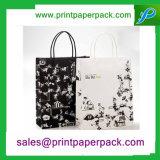Sacchetti di acquisto cosmetici di carta di lusso della maniglia amichevole di torsione di Eco