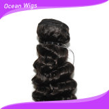 Trama profunda brasileira do cabelo da onda de Virign Remy do estoque do cabelo de Quercy (W-066c)