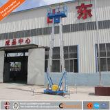 Elevador pessoal dobro hidráulico da liga de alumínio do mastro/elevadores pequenos para HOME