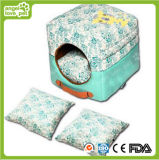De BloemenHond van uitstekende kwaliteit House&Bed van het Huisdier van het Patroon Draagbare Vierkante