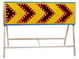 De LEIDENE van verkeersteken Verkeersteken van de Pijl voor Verkeersveiligheid