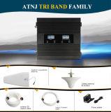 Tri ripetitore del segnale della fascia 900/1800/2100MHz, ripetitore mobile del segnale di 2g 3G 4G
