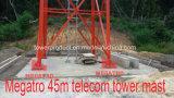 torretta di telecomunicazione fornita di gambe dell'indicatore luminoso quattro di 45m