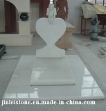 Lápide européia do mármore do granito do estilo de América, Headstone, monumento para o memorial