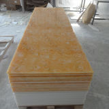 Superfície contínua translúcida acrílica de pedra artificial material da decoração