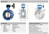 연성이 있는 Iron Body 및 Disc Double Flange Butterfly Valve
