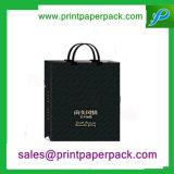 Do punho amigável da torção de Eco sacos de compra cosméticos de papel luxuosos