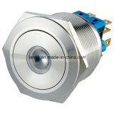 25mm Zelfsluitende 2no2nc DOT LED Waterproof Drukknop Switch