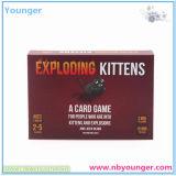 Juego de tarjeta de papel de estallido de los gatitos