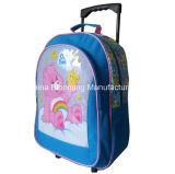 Sac réglé de déjeuner de sac à dos de roulement de chariot d'école à cadeau promotionnel de papeterie