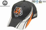 O bordado 100% do algodão 3D da alta qualidade ostenta o chapéu de basebol, tampão