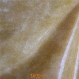 Materias primas de imitación del cuero genuino para la tapicería del sofá (1606#)