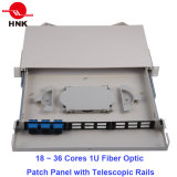 6 Kerne 1u Rack Mount Patch Panel mit Telescopic Rails